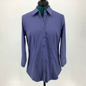 Denver Hayes Blue Horizon Fitted Button Down, S